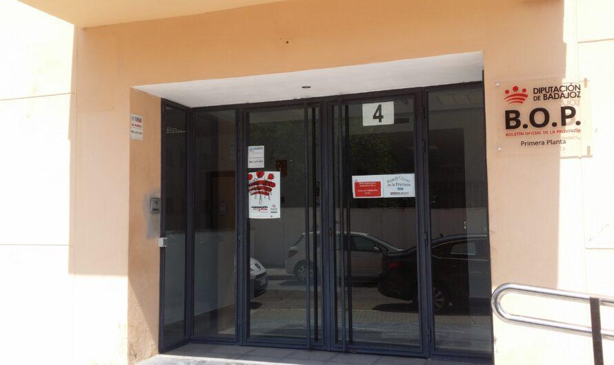 Nombramiento Jefatura de Negociado de Administración del BOP Diputación Badajoz
