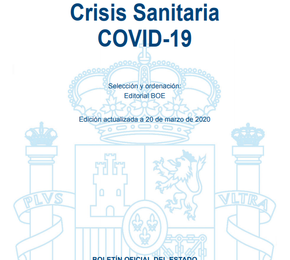 Código de normativa estatal y autonómica sobre coronavirus (COVID-19) a 27-10-2020